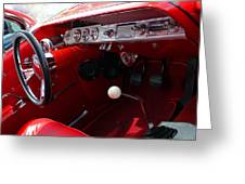 Red Chevy Impala Greeting Card