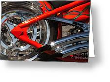 Red Chopper Detail Greeting Card
