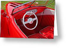Red Classic Car Greeting Card