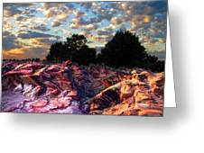 Red Cliff Sunset Greeting Card by Ric Soulen