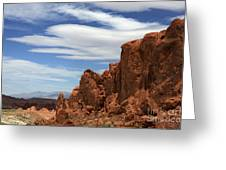 Red Cliffs Blue Sky Greeting Card