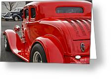 Red Coupe Greeting Card