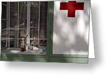 Red Cross. Belgrade. Serbia Greeting Card