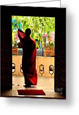 Red Divine Greeting Card by Dean Harte