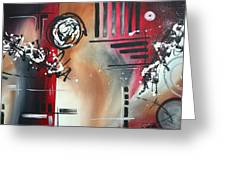 Red Divinity By Madart Greeting Card