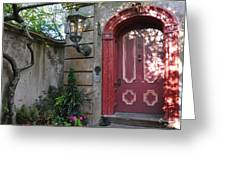 Red Door Charleston Greeting Card by Lori Kesten