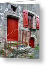 Red Door In Laroche Bernard Greeting Card
