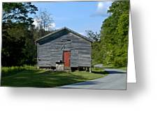 Red Door Of The One Room School House Greeting Card