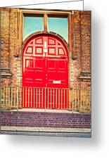 Red Door Greeting Card by Tom Gowanlock