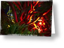 Red Entanglement Greeting Card