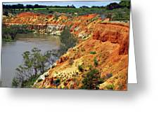 Red Eroded Soil Greeting Card