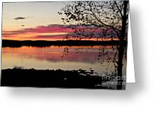 Red Evening Sky Greeting Card