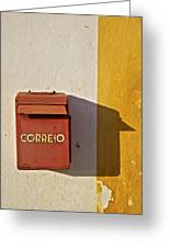 Red Faded Mailbox Of Portugal II Greeting Card