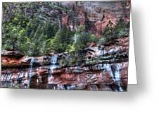 Red Falls Greeting Card