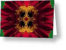 Red Flower Art Greeting Card