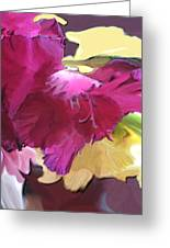 Red Flower In The Abstract Greeting Card