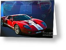 Red Ford Gt40 Greeting Card