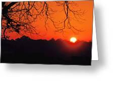 Red Glow Greeting Card