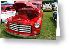 Red Gmc Greeting Card