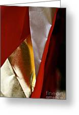 Red Gold And White Greeting Card