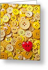Red Heart And Yellow Buttons Greeting Card