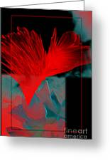 Red Heart Flower Greeting Card