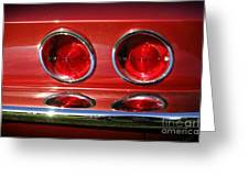 Red Hot Vette Greeting Card by Luke Moore