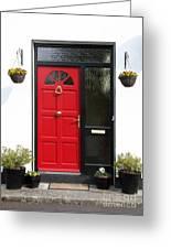 Red Irish Door Greeting Card