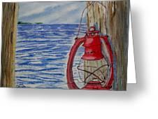 Red Lantern Greeting Card