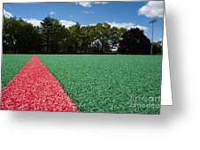Red Line On An Athletic Field Greeting Card