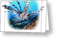 Red Lionfish Greeting Card