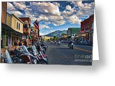 Red  Lodge Motorcycle Rally Greeting Card