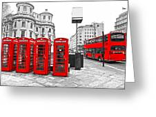 Red London Greeting Card