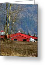Red Matsqui Barn Greeting Card