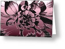 Red Metallic Dahlia Named Who Dun It Greeting Card