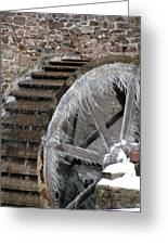Red Mill In Winter IIi Greeting Card