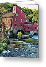 Red Mill On The Water Greeting Card