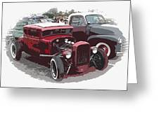 Red Model A Coupe Greeting Card