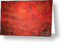 Red Moon Rising  Greeting Card by Mary Sedici