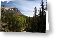 Red Mountain Blue Sky Greeting Card