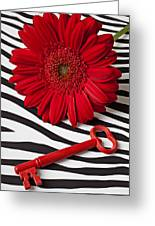 Red Mum And Red Key Greeting Card