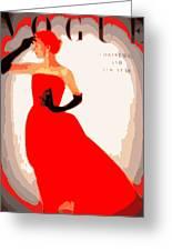 Red Night Greeting Card