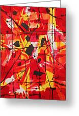 Red Orange Abstract Greeting Card