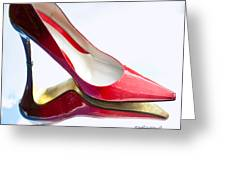 Red Patent Stilettos Greeting Card