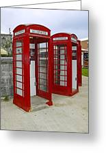Red Phone Booths Greeting Card