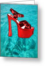 Red Platform Divers Greeting Card