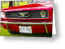 Red Pony Car Greeting Card