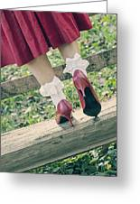 Red Pumps Greeting Card by Joana Kruse