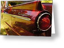 Red Ranchero And Round Taillight Greeting Card