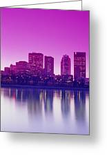 Red River And Downtown Winnipeg Greeting Card